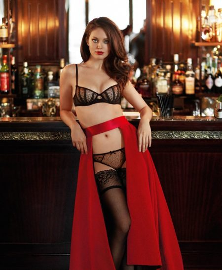 Emily DiDonato Looks Red-Hot in Yamamay's Christmas Collection