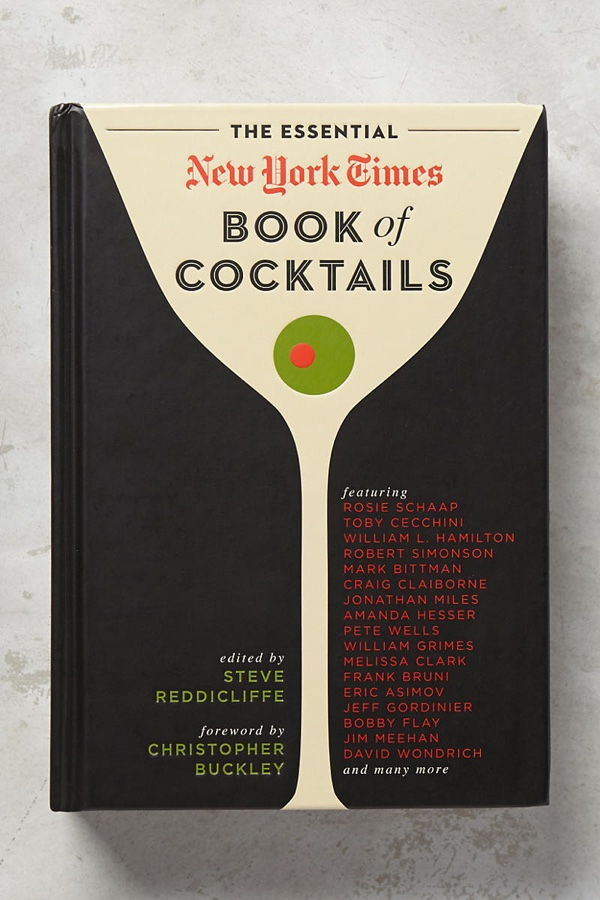 The Essential New York Times Book of Cocktails. Photo: Anthropologie
