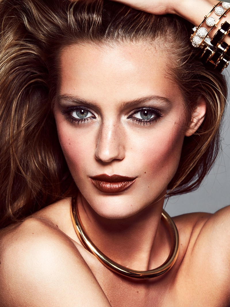 Esther Heesch Models Glam Winter Makeup Looks for ELLE Sweden