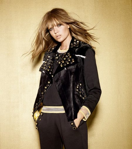 Josephine Skriver Shines Like Gold in Fendi's Holiday Collection