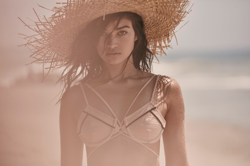Shanina Shaik Hits the Beach in For Love & Lemons' Resort Swimwear