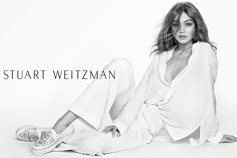 Gigi Hadid Strips Down for Stuart Weitzman's Spring Campaign