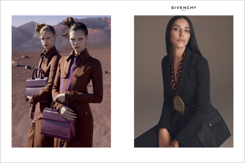 Vittoria Ceretti, Faretta and Lea T. star in Givenchy's spring-summer 2017 campaign