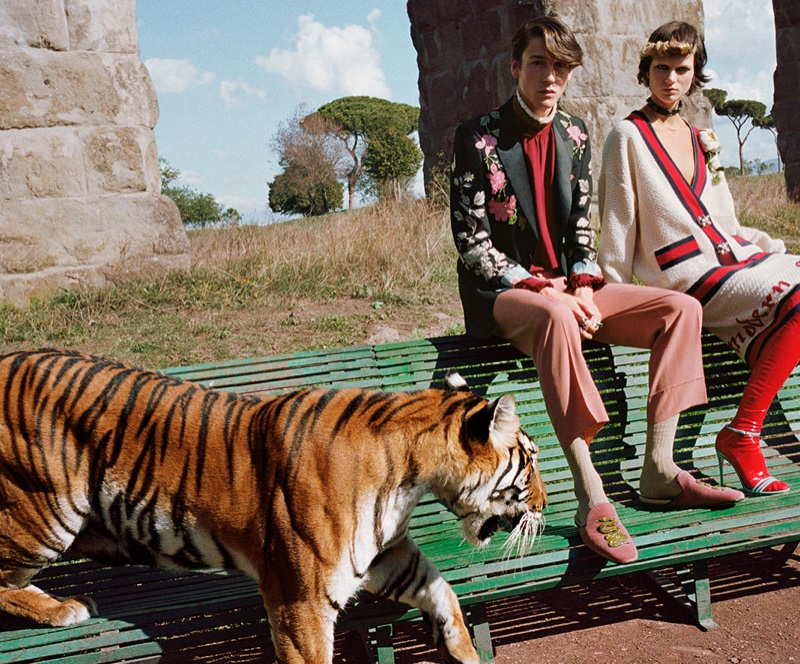 An image from Gucci's spring-summer 2017 campaign