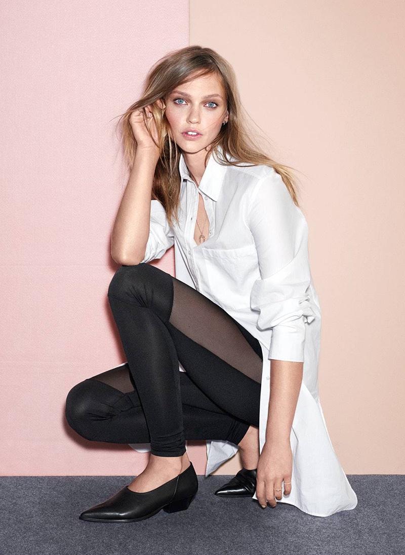 H&M Long Shirt and Jersey Leggings