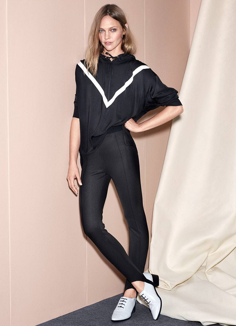 H&M Hooded Blouse and Jersey Leggings