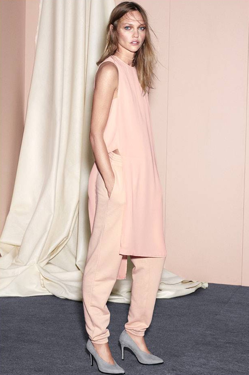 H&M Crêpe Tunic, Joggers and Pumps