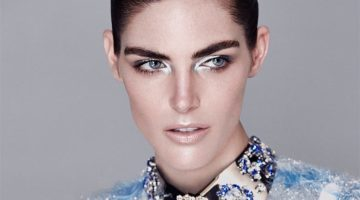Hilary Rhoda Takes On Sleek Fashion for Harper's Bazaar Kazakhstan