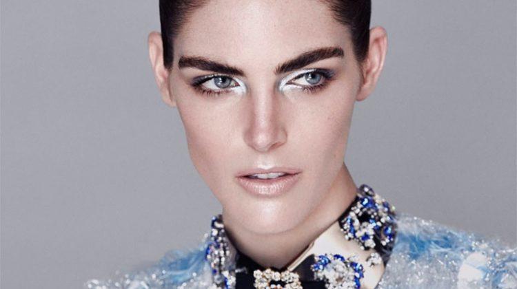 Hilary Rhoda Takes On Sleek Fashion for Harper's Bazaar Kazakhstan