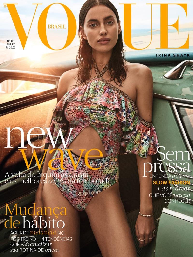 Irina Shayk on Vogue Brazil January 2017 Cover
