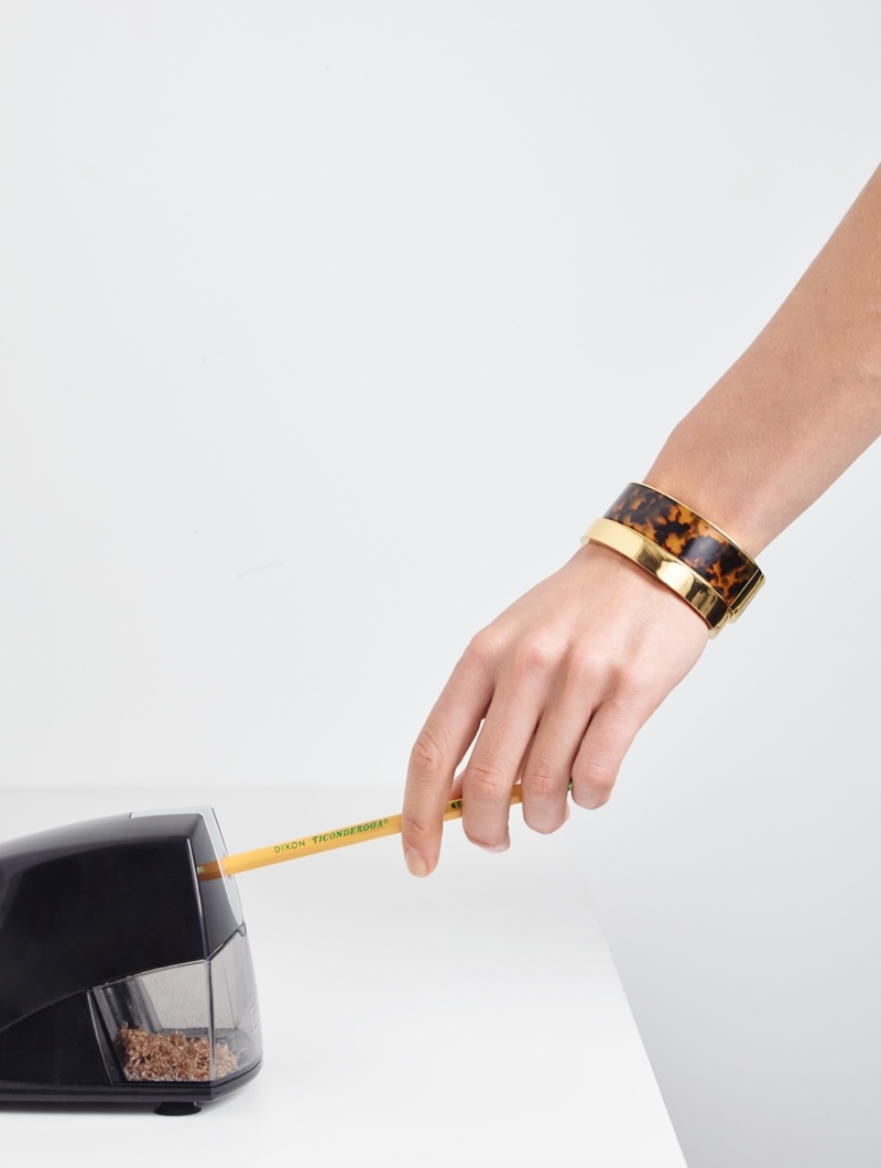 J. Crew Tortoise Clamp Bracelet and Gold-Plated Hinge Bracelet