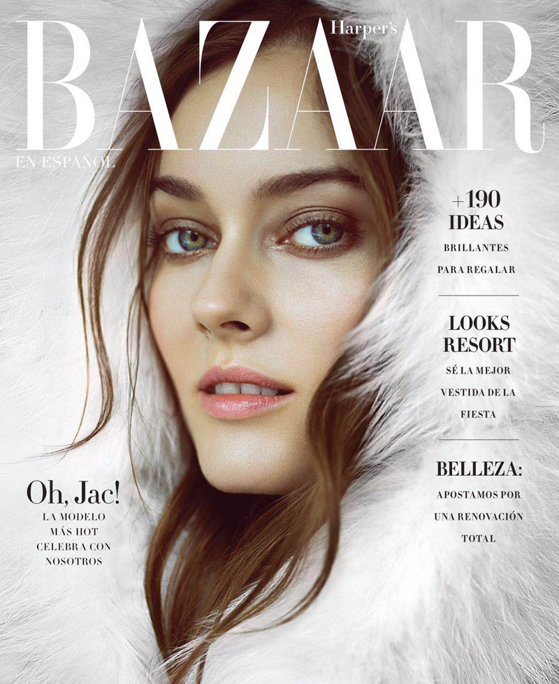 Jac Jagaciak on Harper's Bazaar Mexico December 2016 Cover