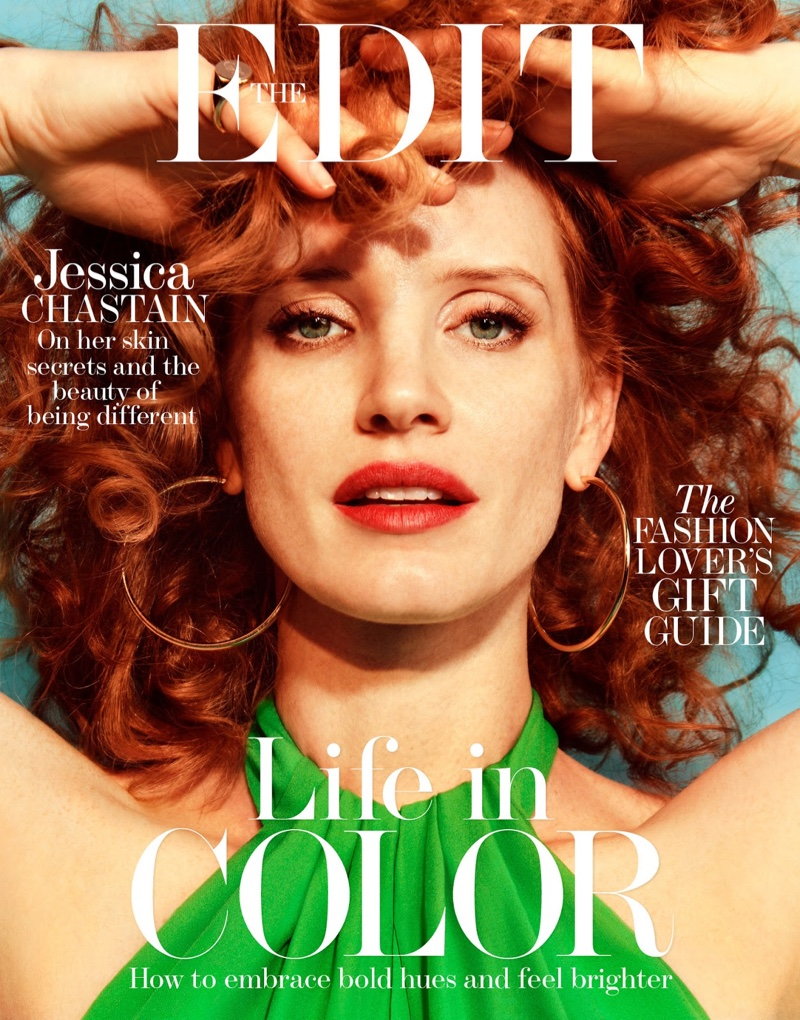 Jessica Chastain on The Edit December 1, 2016 Cover