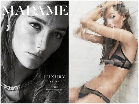 Josephine le Tutour Models Lingerie Looks in Air France Madame
