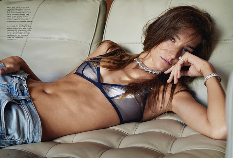 Josephine le Tutour Models Lingerie Looks in Air France Madame