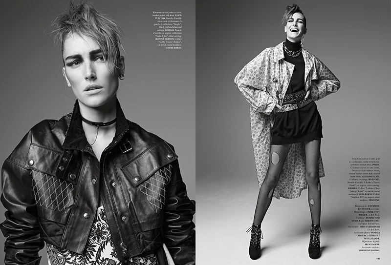 Josephine le Tutour Transforms in Punk Inspired Style for Air France Madame