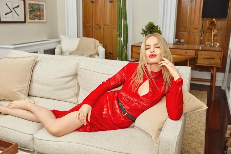 Kate Bosworth wears Nina Ricci Long Sleeve Turtleneck Dress