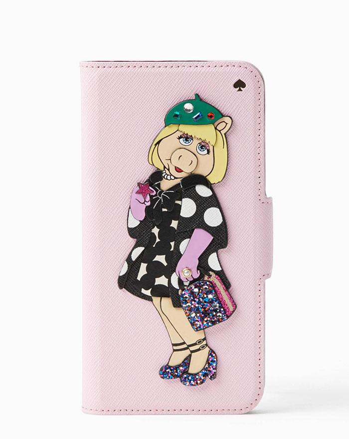 Kate Spade x Miss Piggy Applique Folio iPhone 7 Case