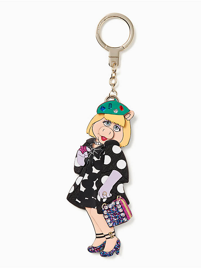 Kate Spade x Miss Piggy Polka Dot Keychain