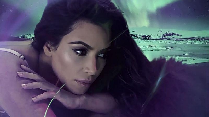 Getting her closeup, Kim Kardashian stars in LOVE Magazine's annual 2016 advent calendar