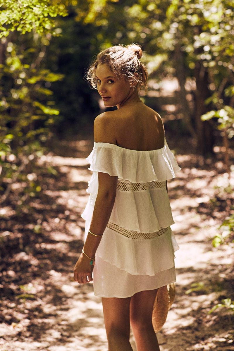 KISUII Noia Tiered Cotton Cover-Up Dress