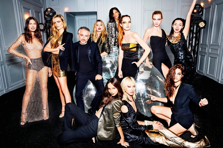 L'Oreal Paris models turn up the glam factor for this group shot