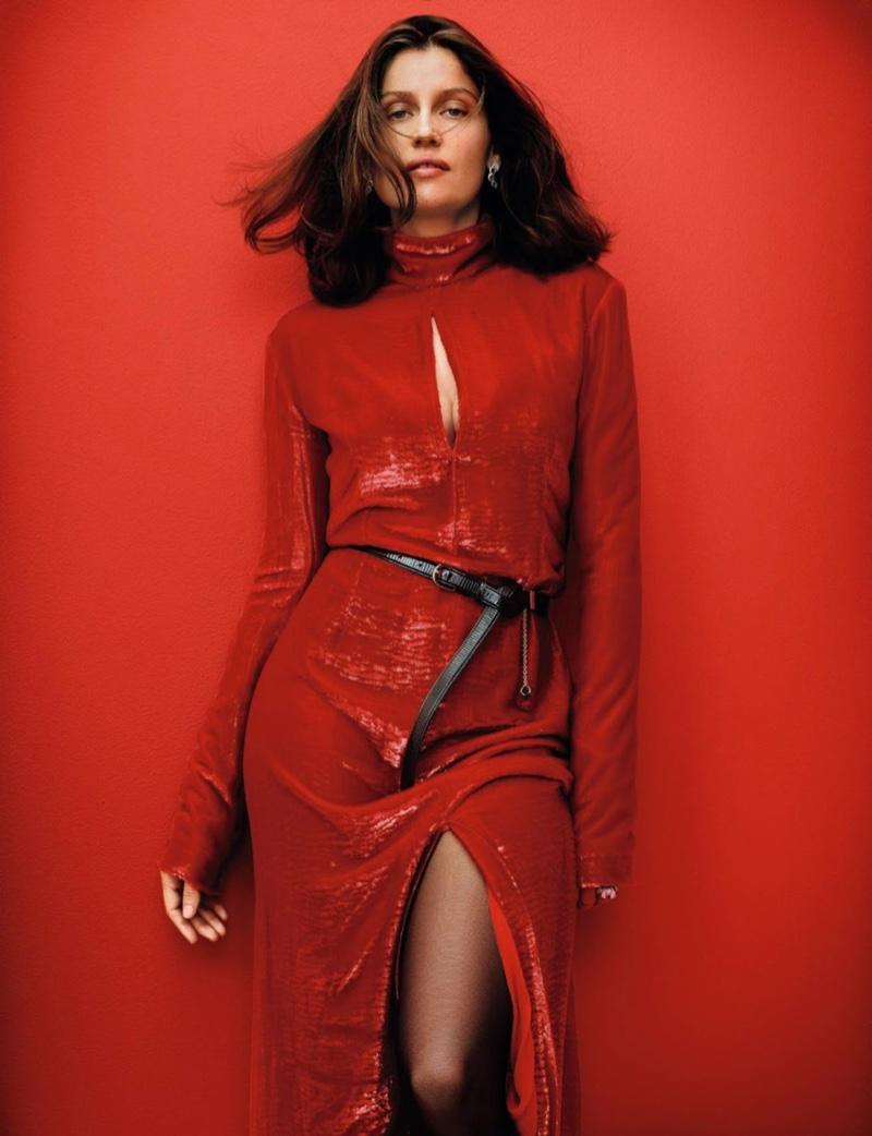 c1660abb4d Laetitia Casta Poses in Elegant Fashions for Grazia France