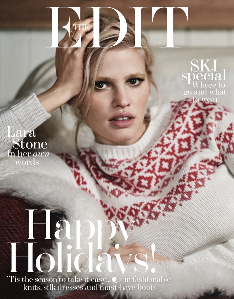 Lara Stone on The Edit December 22nd, 2016 Cover