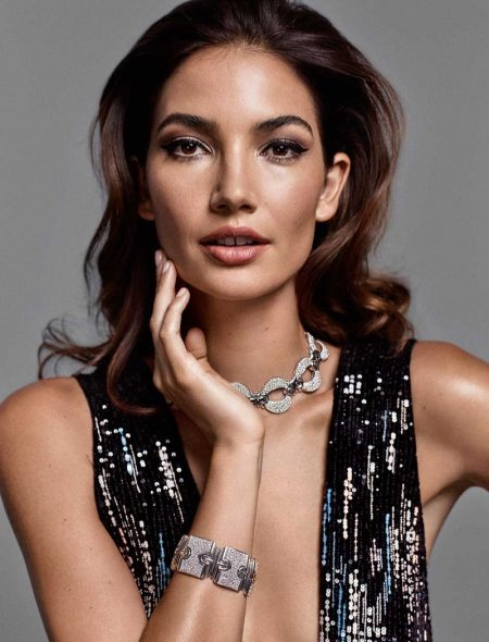 Lily Aldridge Wows in Glamorous Looks for Io Donna