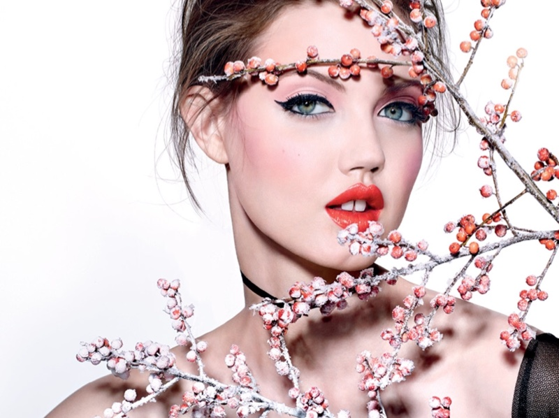 Lindsey Wixson models spring beauty looks in Vogue Russia editorial