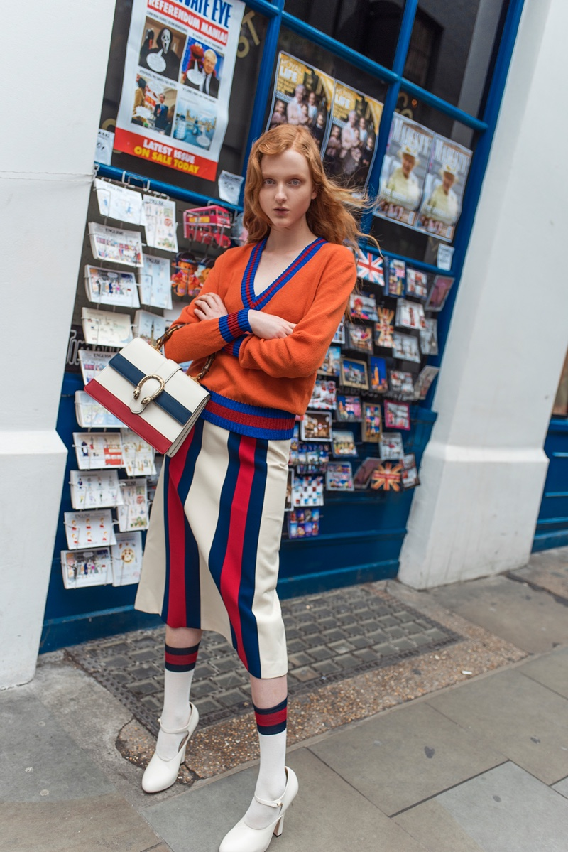 Madison Stubbington poses for Grazia Australia in the streets of London