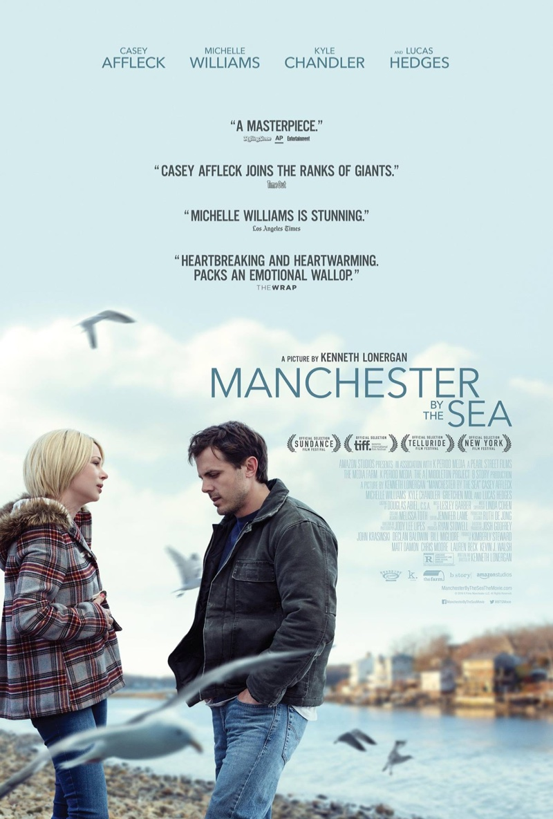 Michelle Williams & Casey Affleck on Manchester By the Sea poster