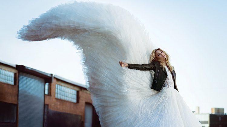 Martha Hunt Poses in All White Styles for Harper's Bazaar Turkey