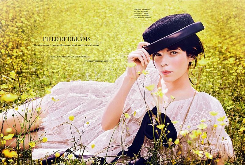 Meghan Collison stars in Harper's Bazaar UK's October issue