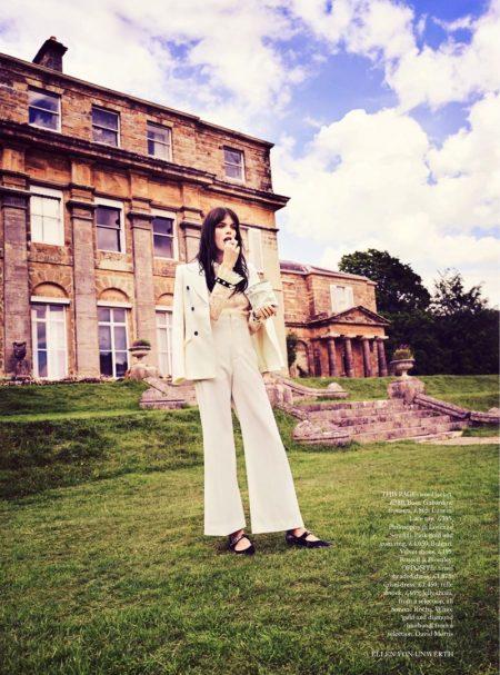 Meghan Collison Poses in the 'Field of Dreams' for Harper's Bazaar UK