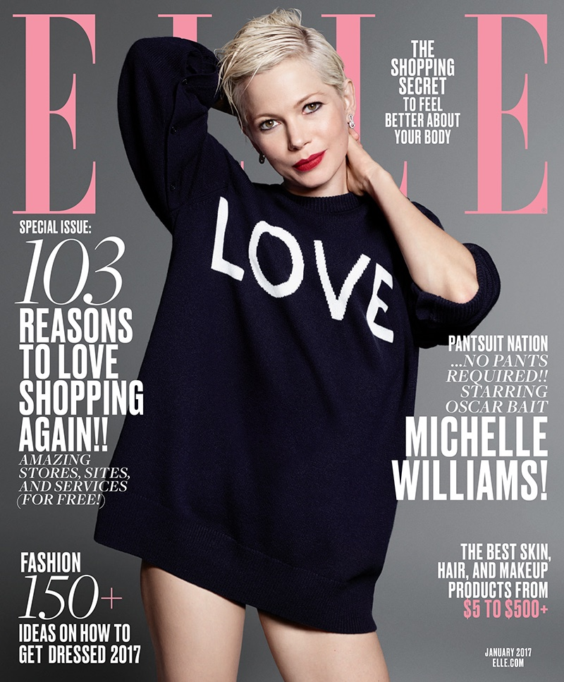 Michelle Williams on ELLE Magazine January 2017 Cover