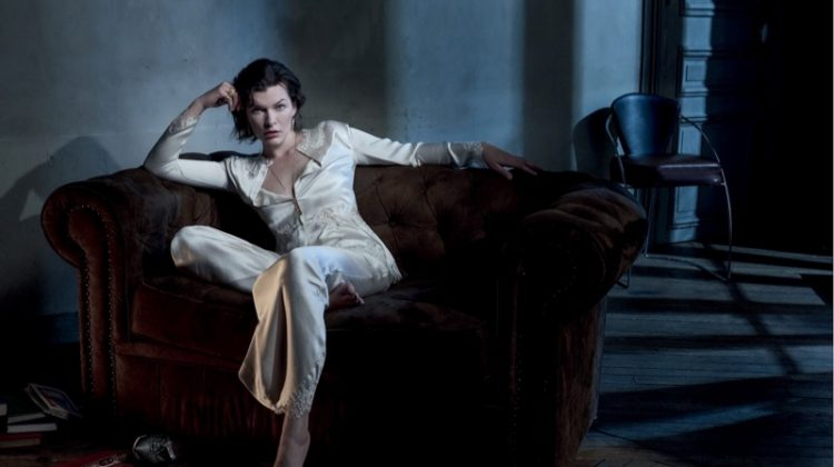 Milla Jovovich Poses in Elegant Styles for Vogue Portugal