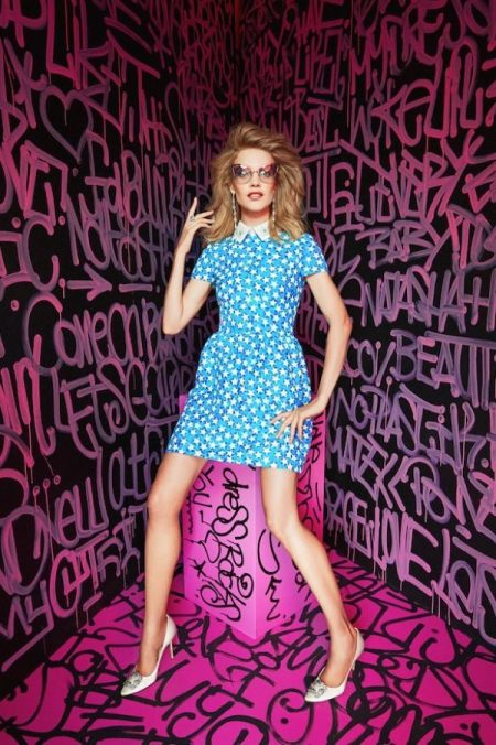 Model Natalia Vodianova channels a Barbie look for the fashion editorial