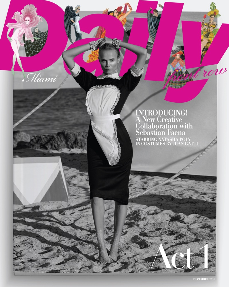 Natasha Poly on Daily Front Row Miami December 2016 Cover