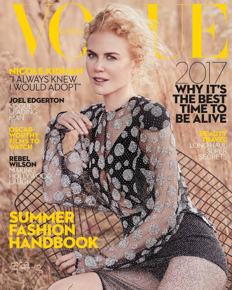 Nicole Kidman on Vogue Australia January 2017 Cover