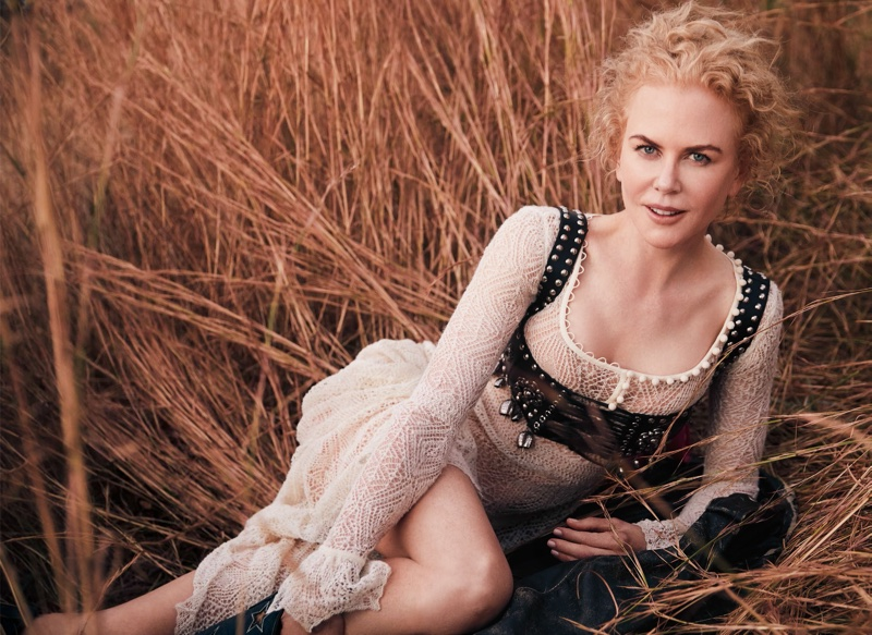 Nicole Kidman Heads Outdoors in the Spring Collections for Vogue Australia