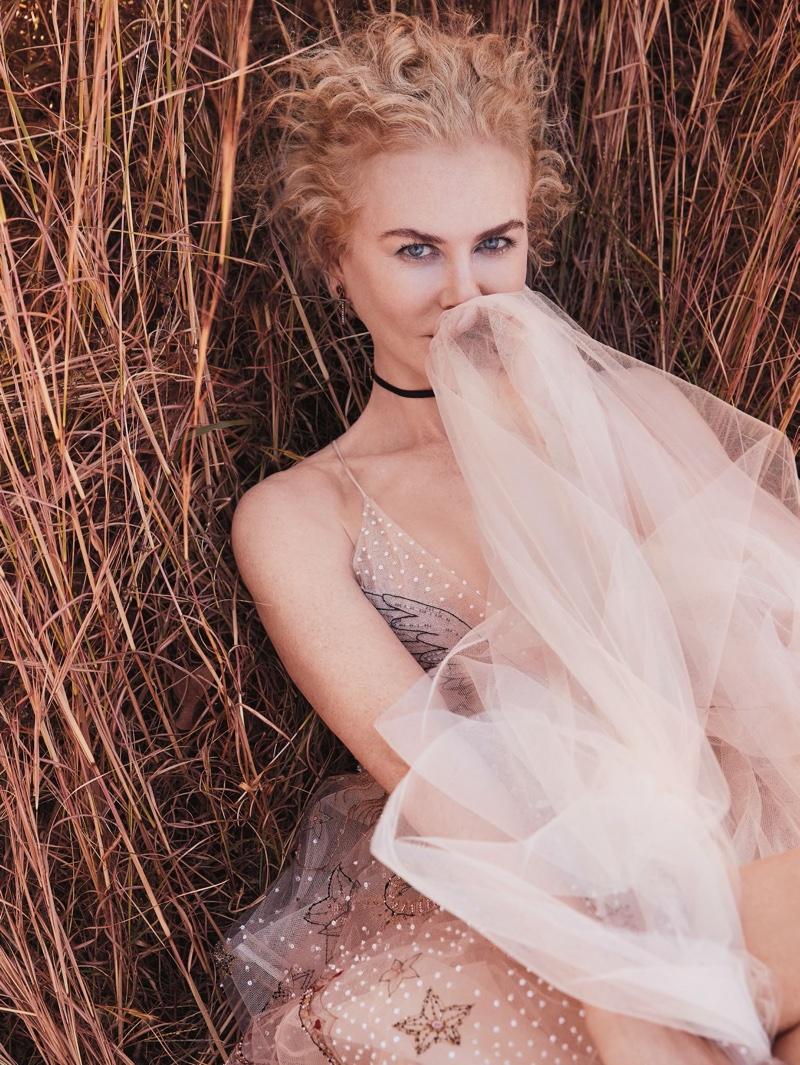 Nicole Kidman wears Dior dress with Tiffany & Co. earrings and choker