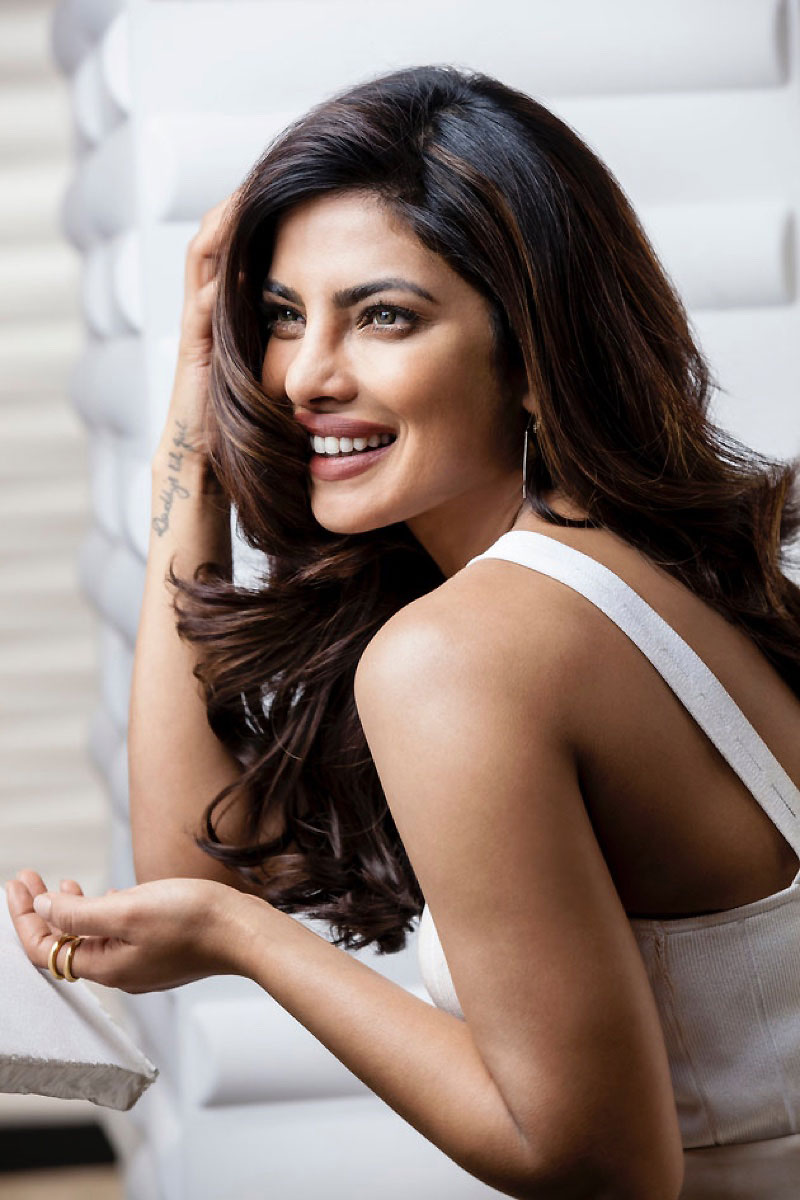 Actress Priyanka Chopra is all smiles behind-the-scenes at Pantene campaign