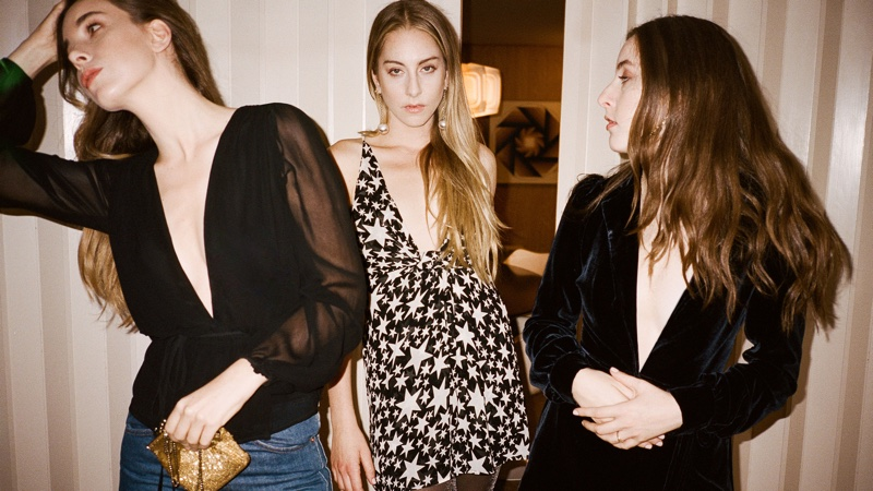 (Left) Reformation x HAIM Houston Top (Middle) Reformation x HAIM Victory Dress (Right) Reformation x HAIM Lindley Dress