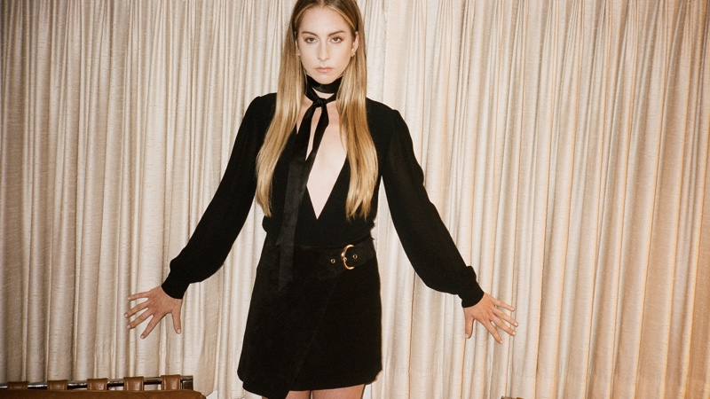 Reformation x HAIM Chandler Bodysuit and Colfax Skirt