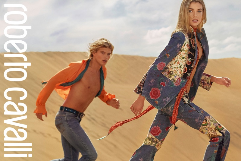 An image from Roberto Cavalli's spring 2017 campaign