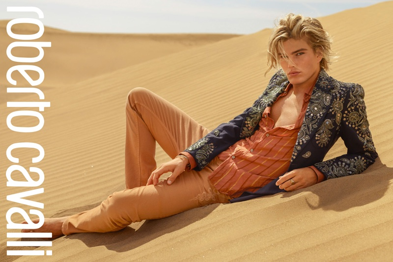 Menswear image from Roberto Cavalli spring-summer 2017 campaign