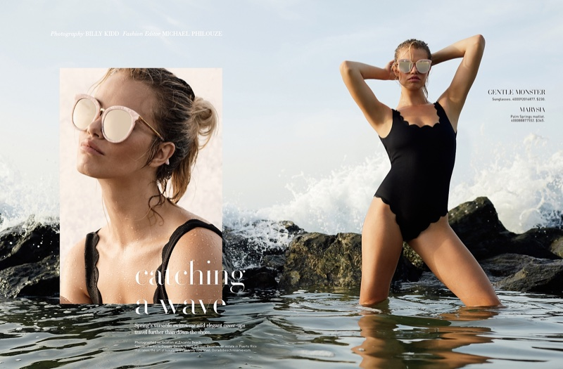 Gentle Monster Sunglasses and Marysia Palm Springs Maillot