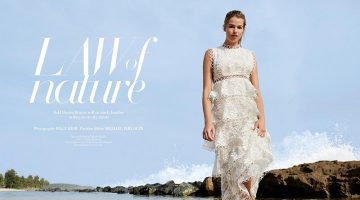 Hailey Clauson Blooms in Floral Looks for Saks Fifth Avenue