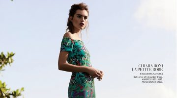 Staz Lindes Embraces Resort's Tropical Prints for Saks Fifth Avenue